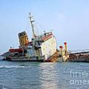 Shipwrecked Diesel Tanker Art Print