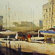 Shipyard At Keroman Art Print