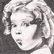 Shirley Temple Art Print by Beverly Marshall