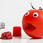 Shocked Tomato. Art Print