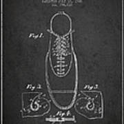 Shoe Eyelet Patent From 1905 - Charcoal Art Print