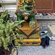 Shoes Outside The Temple Art Print