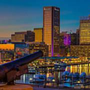 Shooting Purple In Baltimore Art Print