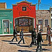 Shootout At The Ok Corral In Tombstone-arizona Art Print