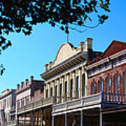 Shop Fronts In Old Sacramento - Art Print