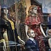 Shop Window Display Of Mannequins Art Print