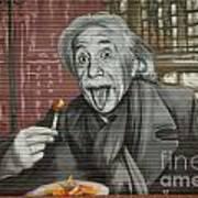 Shop Window Metal Blind Einstein Art Print