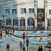 Shopping At Grover Cronin Art Print by Rita Brown