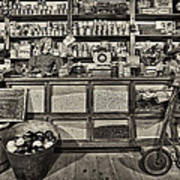 Shopping At The General Store Art Print by Priscilla Burgers