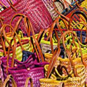 Shopping Baskets Art Print