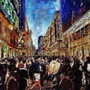 Shopping Madness Art Print by Cary Shapiro