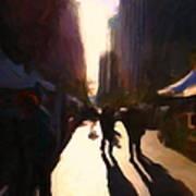 Shopping Stands Along Market Street At San Francisco's Embarcadero - 5d20841 V2 Print by Wingsdomain Art and Photography