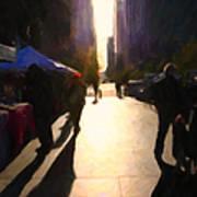 Shopping Stands Along Market Street At San Francisco's Embarcadero - 5d20842 Art Print