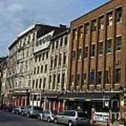 Shops And Buildings Along Rue Saint-paul Old Montreal Art Print