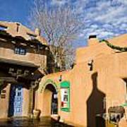 Shops At Santa Fe New Mexico Art Print
