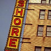 Shore Building Sign - Coney Island Art Print