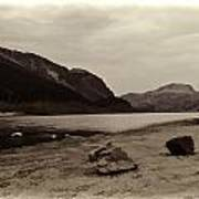 Shore Of A Loch In The Scottish Highlands Art Print