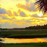 Shoreline Sunset 3 Art Print