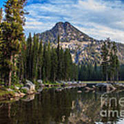 Shoreline View Of Anthony Lake Art Print
