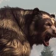 Short Faced Bear Art Print by Daniel Eskridge