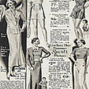 Shorts And Slacks 1934 77 Cents Art Print
