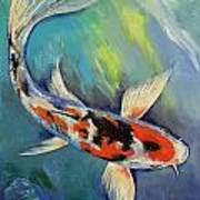 Showa Butterfly Koi Art Print by Michael Creese