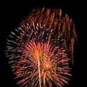 Shower Of Fireworks Art Print