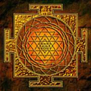 Shri Yantra Gold Lakshmi Art Print by Lila Shravani