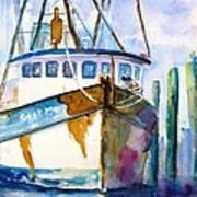 Shrimp Boat Isra Art Print