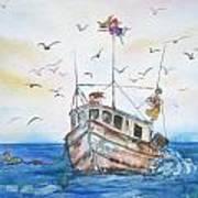 Shrimp Boat Sailing Art Print