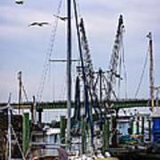Shrimp Boats At Lazaretto Creek Art Print