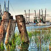 Shrimp Dock Pilings Art Print