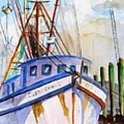 Shrimp Fishing Boat Art Print