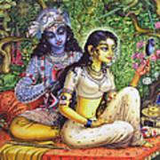 Shringar Lila Art Print by Vrindavan Das