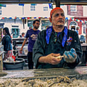Shucking Oysters In The French Quarter Art Print