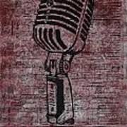 Shure 55s On Music Art Print
