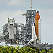 Shuttle Endeavour Is Prepared For Launch Art Print
