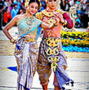 Siam Culture Dance Art Print