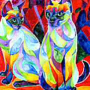 Siamese Sweethearts Art Print