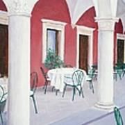 Sibenik Cafe Croatia Art Print