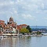 Sibenik Town On Adriatic Sea  Art Print by Borislav Marinic
