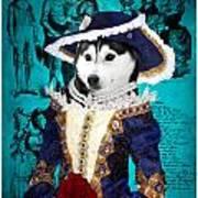 Siberian Husky Art Canvas Print - Baroness Art Print