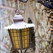 Sicilian Village Lamp Art Print by David Smith