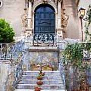 Sicilian Village Steps And Door Art Print by David Smith