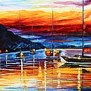 Sicily Messina Art Print by Leonid Afremov