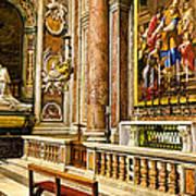 Side Altar In St Peters Basicilca Art Print