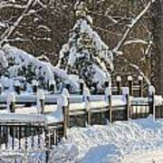 Side Cut Park Winter Wonderland Art Print