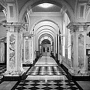 Side Hall Off The Main Entrance Belfast City Hall Built In 1906 County Antrim Northern Ireland Art Print