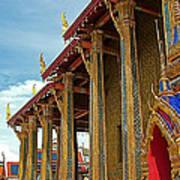 Side Of Royal Temple At Grand Palace Of Thailand In Bangkok Art Print