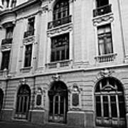 side of Santiago Stock Exchange building Chile Art Print